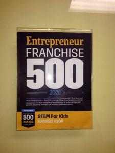 Entrepreneur Franchise 500 Ranking STEM For Kids #280